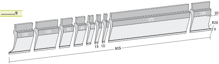 Стандартный пуансон: P.97-75-R08 Производитель: Rolleri (Италия).