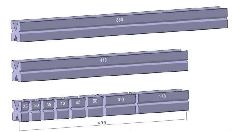 Стандартная матрица: M460. Производитель: Rolleri (Италия).